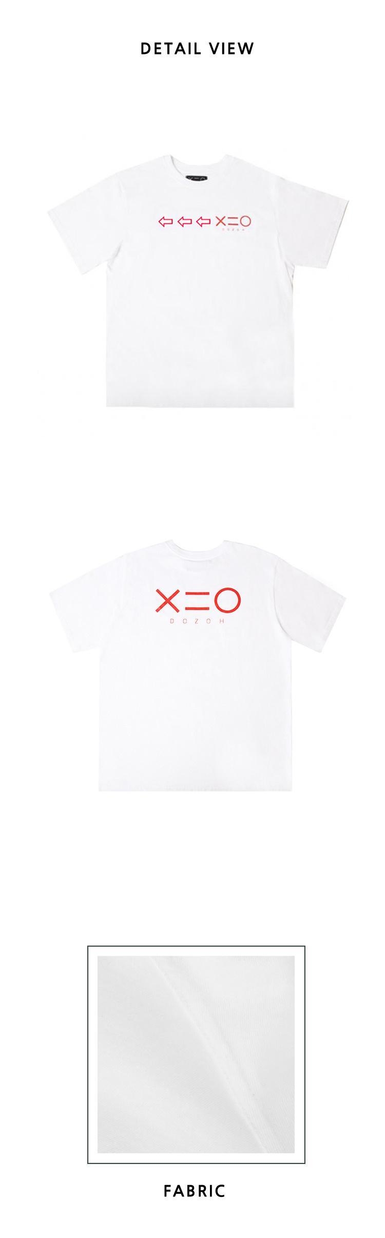 도조(DOZOH) WHITE DOZOH RED ARROW&LOGO T-SHIRTS