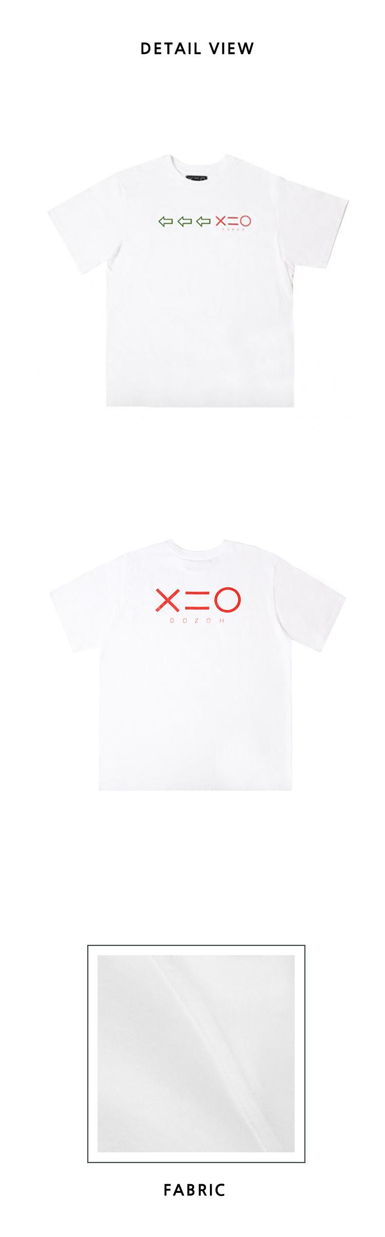 도조(DOZOH) WHITE DOZOH GREEN/RED ARROW&LOGO T-SHIRTS