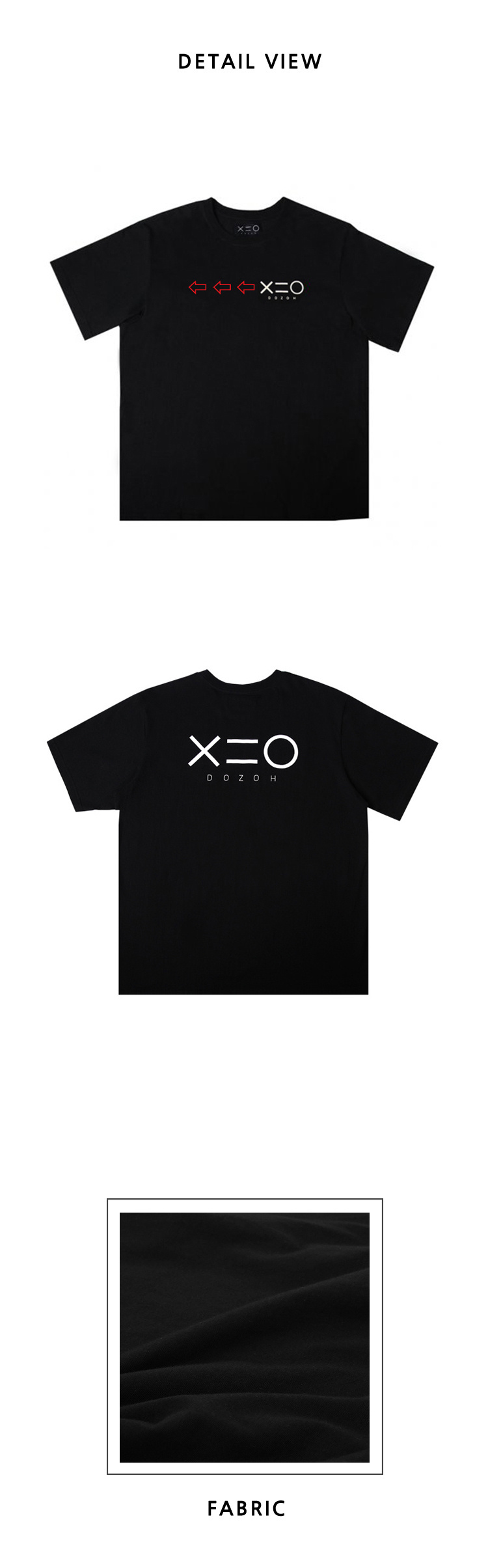 도조(DOZOH) BLACK DOZOH RED/WH ARROW&LOGO T-SHIRTS