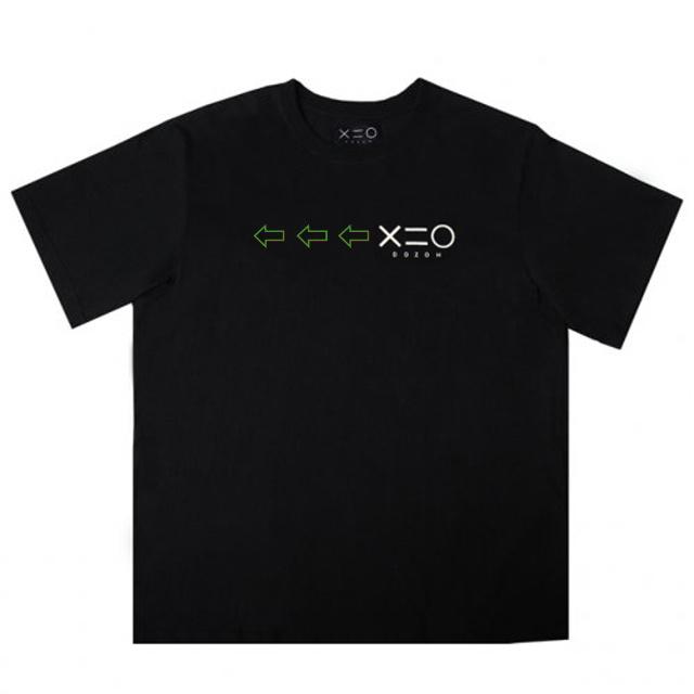 도조(DOZOH) BLACK DOZOH GREEN/WH ARROW&LOGO T-SHIRTS
