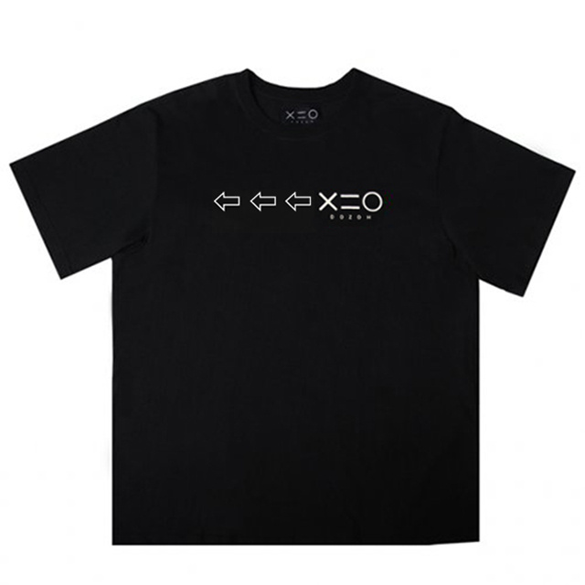 도조(DOZOH) BLACK DOZOH WHITE ARROW&LOGO T-SHIRTS