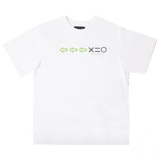 도조(DOZOH) WHITE DOZOH APPLE GREEN/BK ARROW&LOGO T-SHIRTS