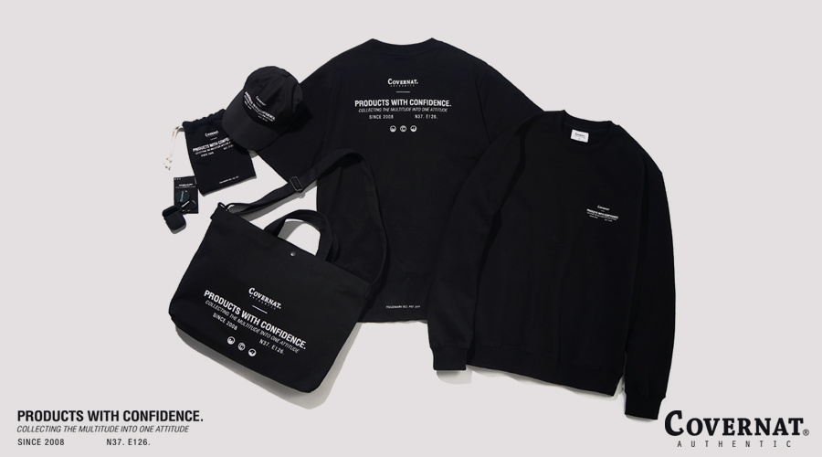커버낫(COVERNAT) ICON LOGO CREWNECK BLACK