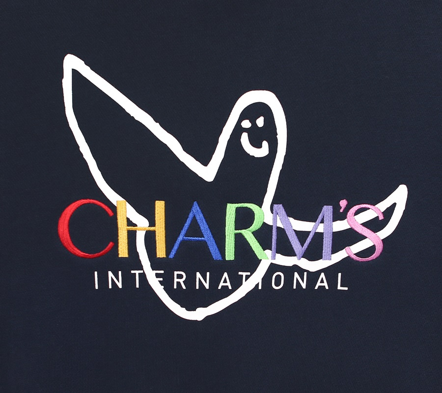 마크 곤잘레스(MARK GONZALES) MG x CHARM`S RAINBOW CREWNECK NAVY