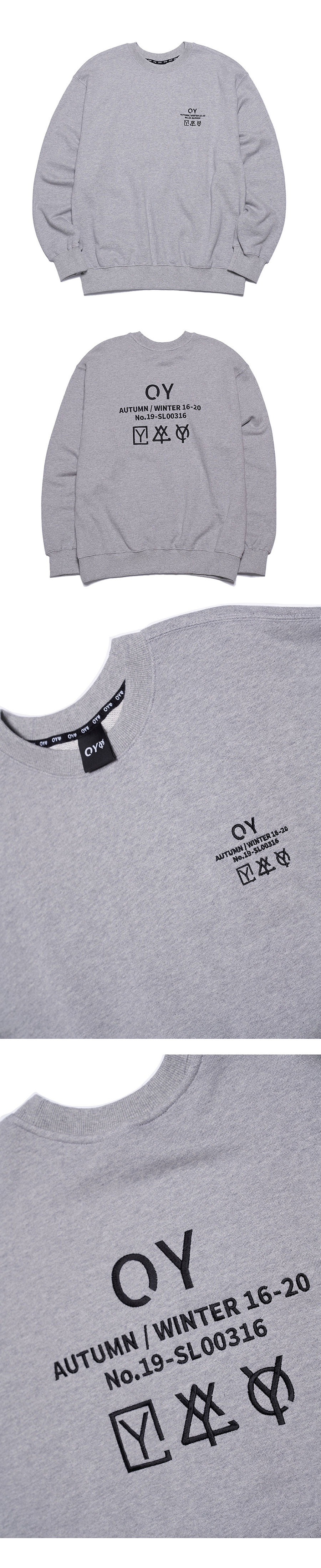 오와이(OY) TRIPLE LOGO MTM - GREY