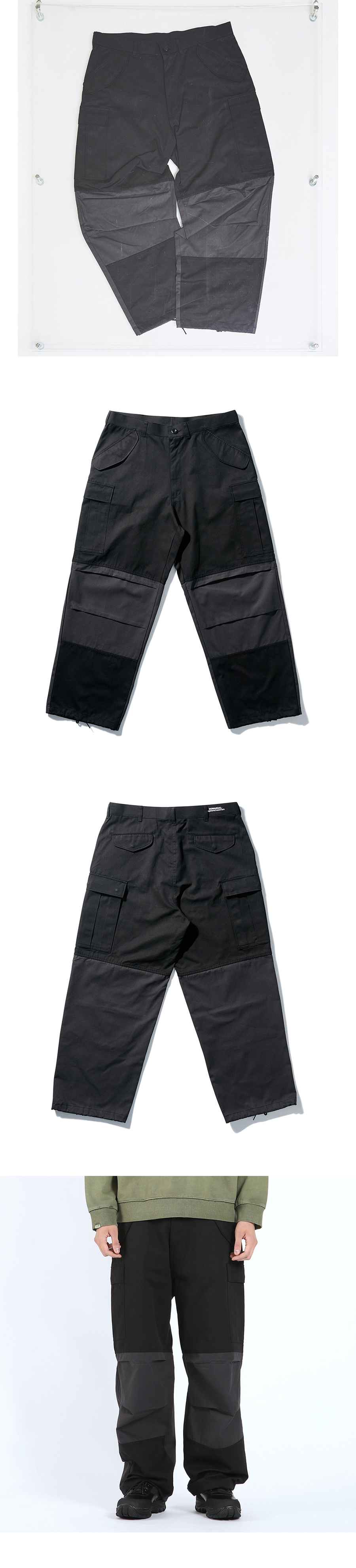 노매뉴얼(NOMANUAL) K.N CARGO PANTS - BLACK