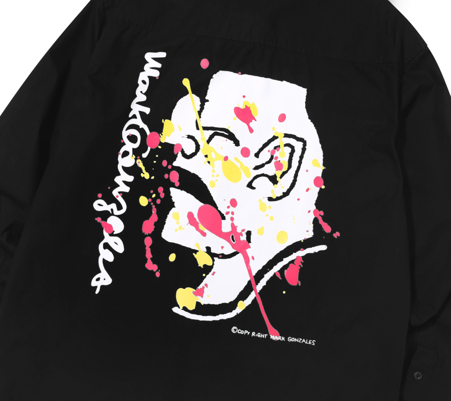 마크 곤잘레스(MARK GONZALES) M/G SPLASH PAINT SHIRTS BLACK