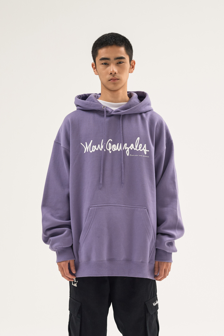 마크 곤잘레스(MARK GONZALES) M/G SIGN LOGO HOODIE BLACK