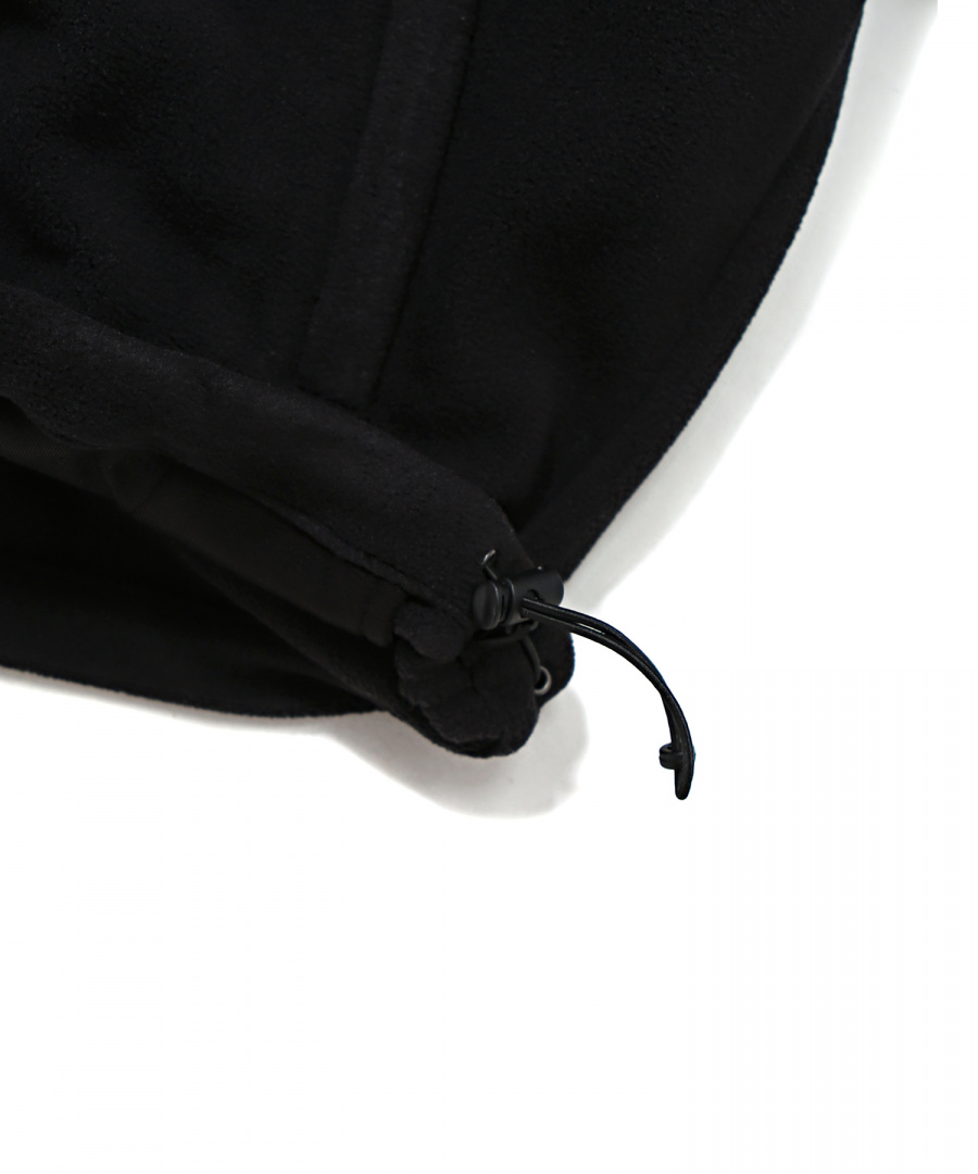 커버낫(COVERNAT) FLEECE ZIP-UP JACKET BLACK
