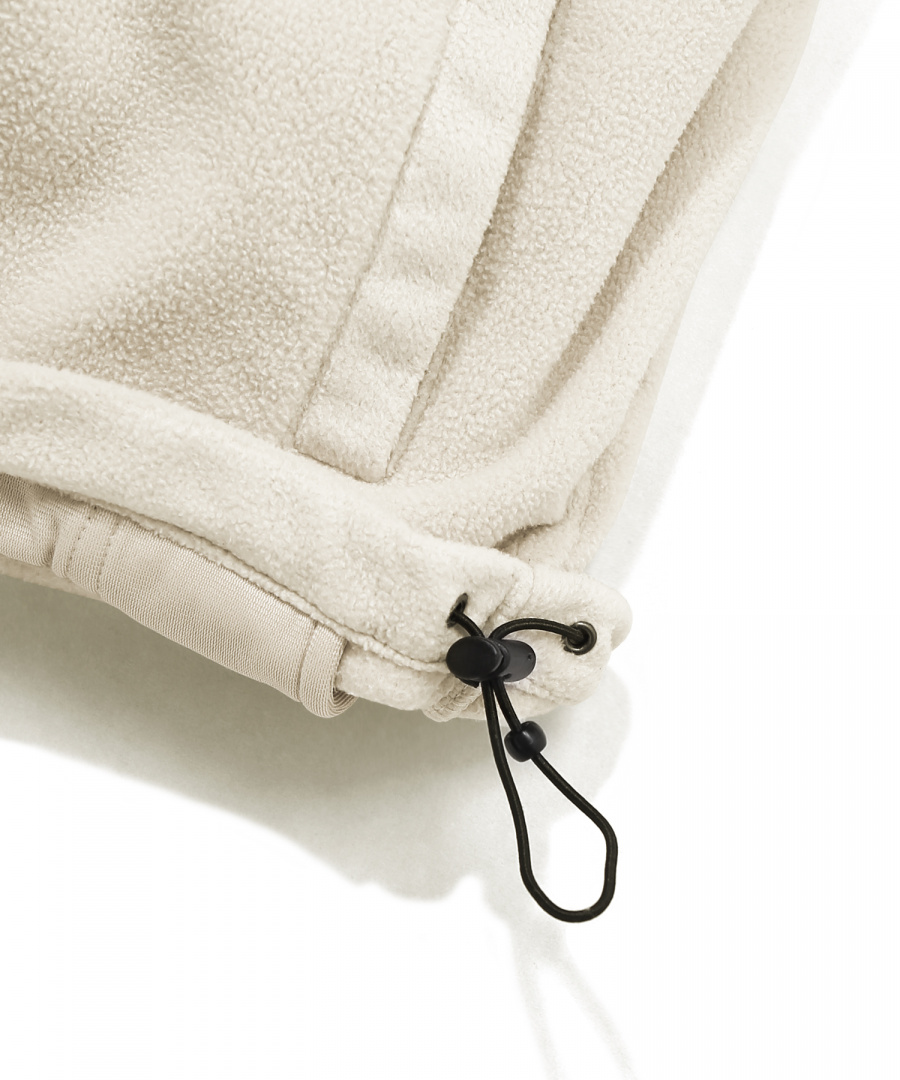 커버낫(COVERNAT) FLEECE ZIP-UP JACKET IVORY