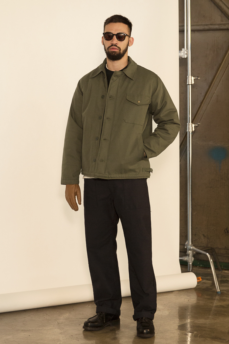 유니폼브릿지(UNIFORM BRIDGE) 19fw deck jacket black