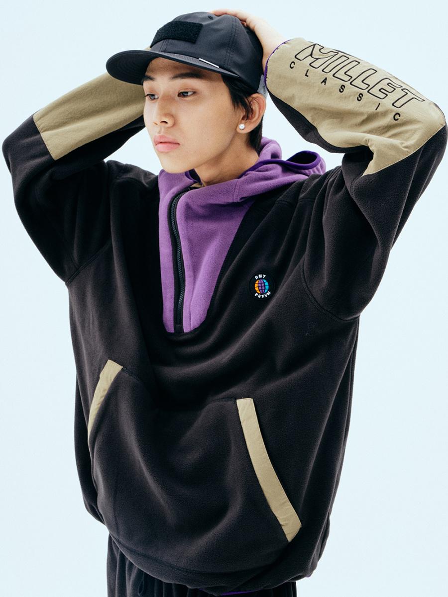 디엠티_피에스티브이엠(dmt_pstvm) dm fleece half zip hoodie (dimito x