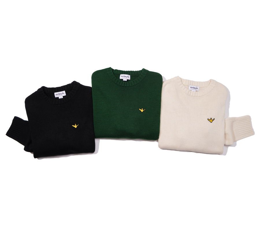 마크 곤잘레스(MARK GONZALES) M/G ANGEL WAPPEN CREWNECK KNIT IVORY