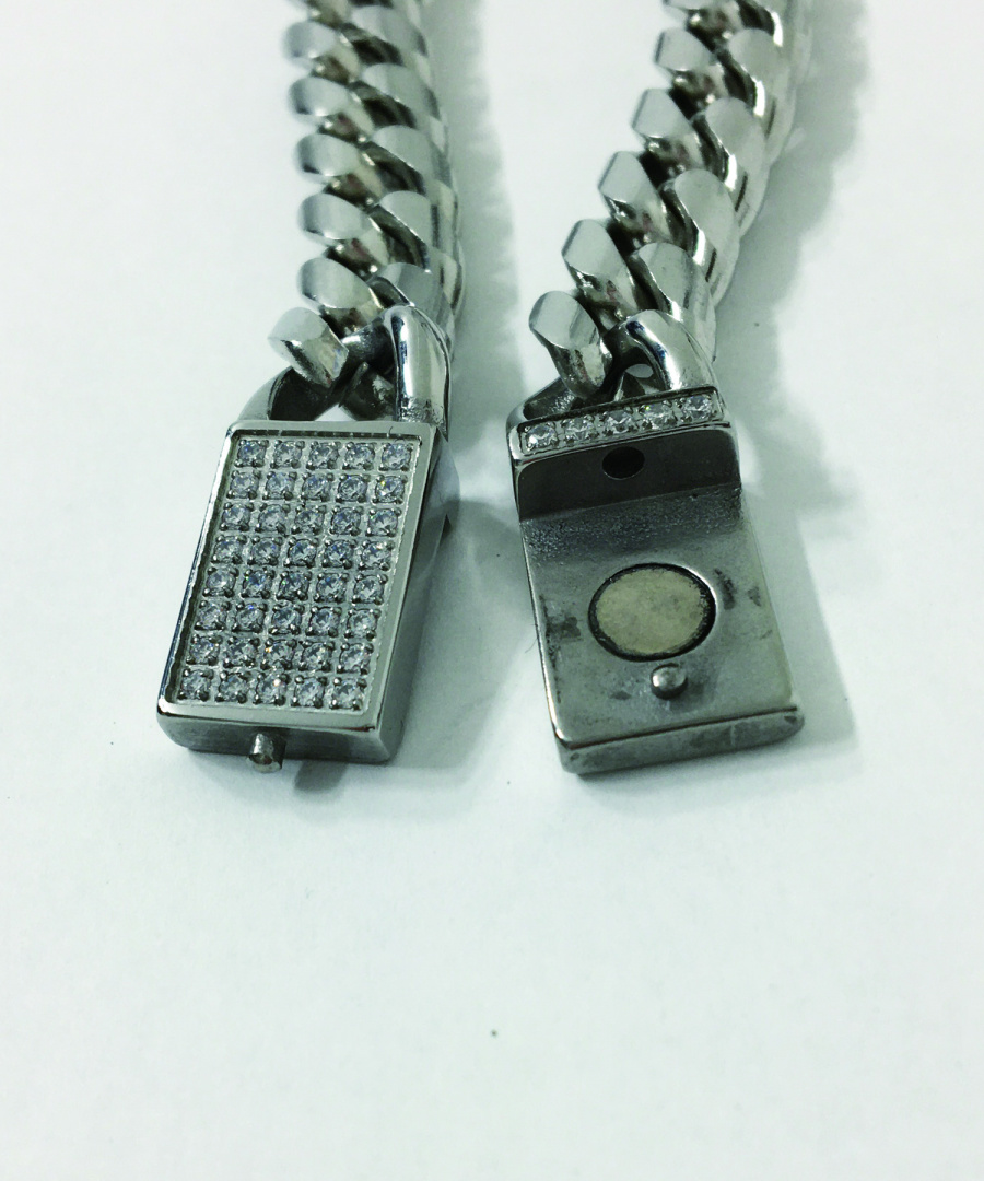 섹스토(SEXTO) [팔찌][써지컬스틸]130 RDC Chain Bracelet Silver L-Version