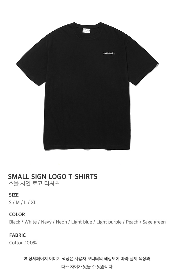 마크 곤잘레스(MARK GONZALES) M/G SMALL SIGN LOGO T-SHIRTS BLACK