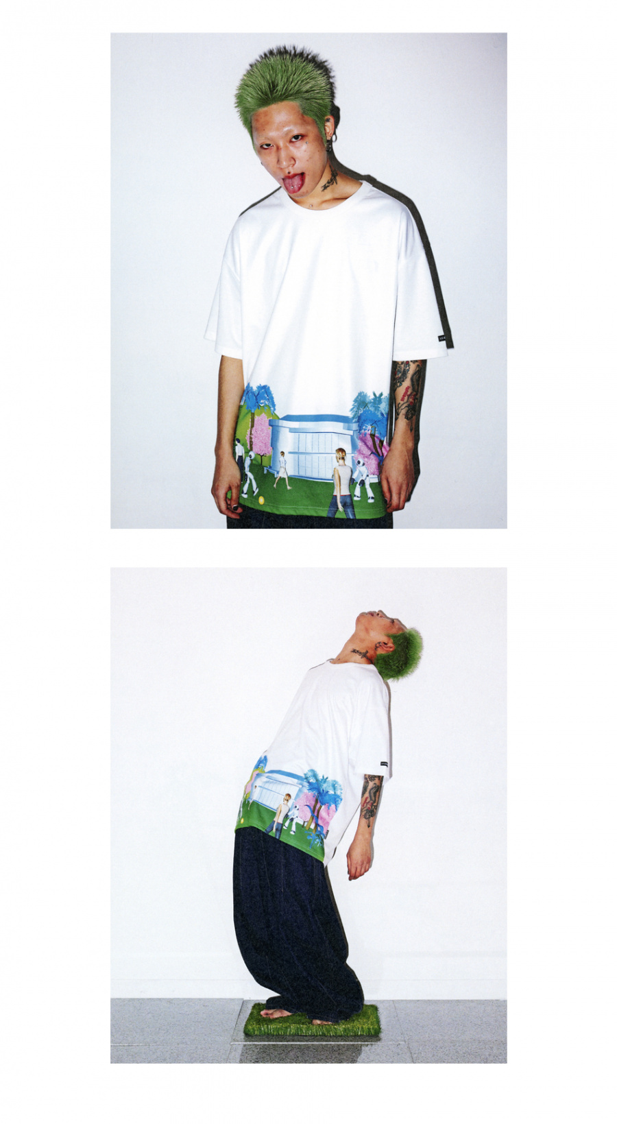 아조바이아조(AJOBYAJO) 3D World T-Shirt [White]