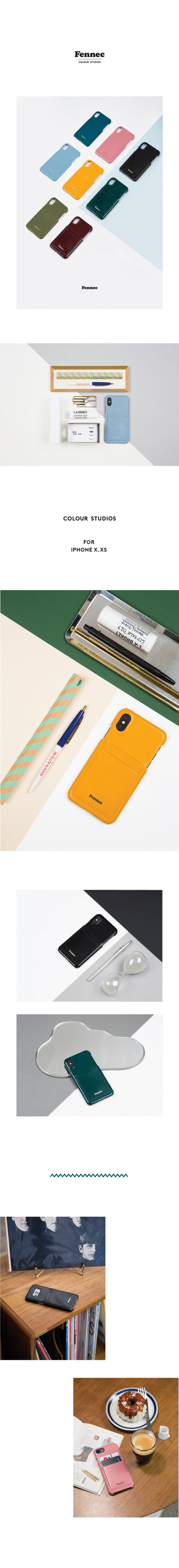 페넥(FENNEC) LEATHER IPHONE X/XS CARD CASE (8COLORS)