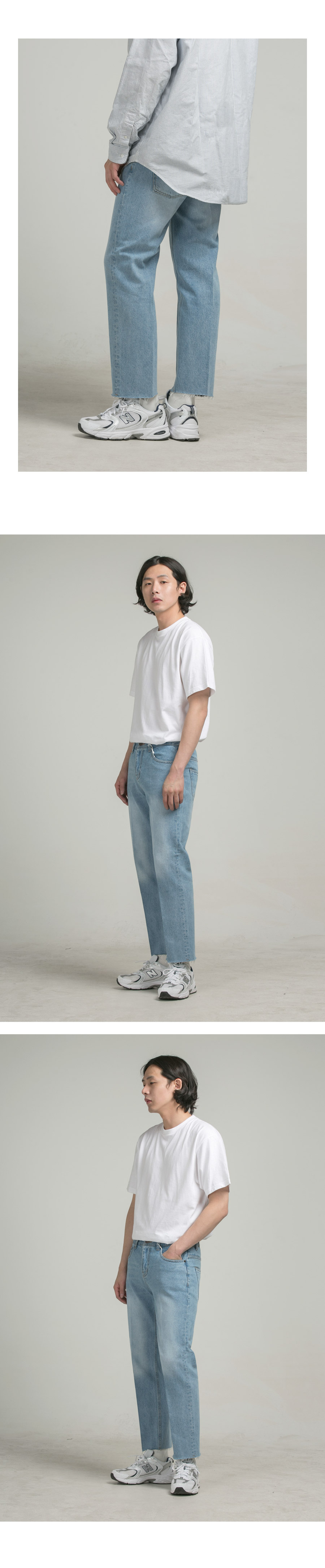 싱커루프(SINKERLOOP) M-Grin #0831  (OK STRAIGHT  CROP JEANS)