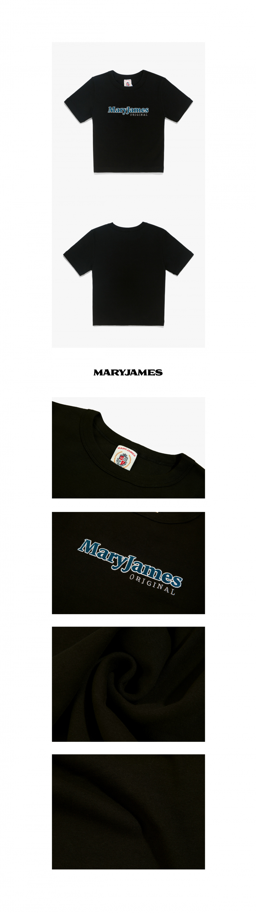 메리제임스(MARYJAMES) (W) SKYWALKER CROP TOP - BLACK/BLUE