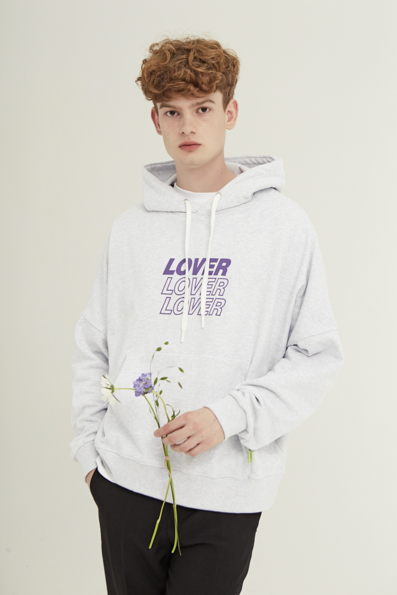 미드나잇 무브(MIDNIGHT MOVE) [unisex] lover hood (off white)