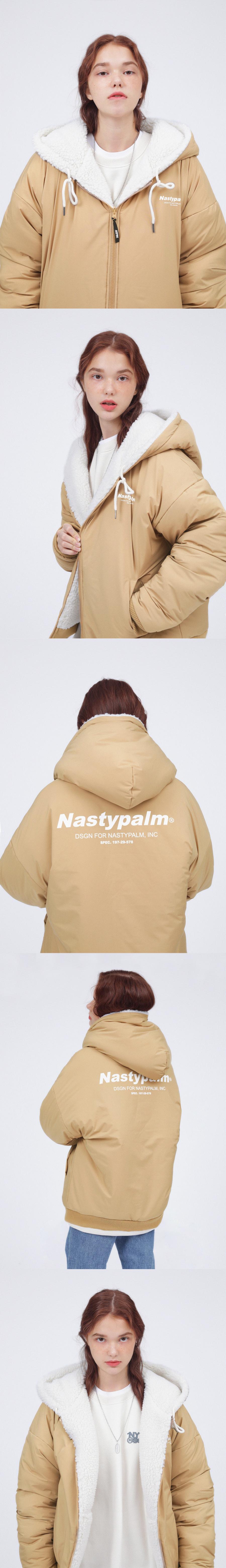 네스티팜(NASTY PALM) 네스티 플리스 리버시블 후드자켓 블랙
