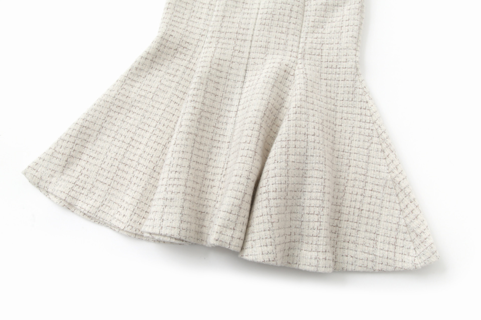 에트몽(ETMON) Tweed Mermaid Skirt  Ivory