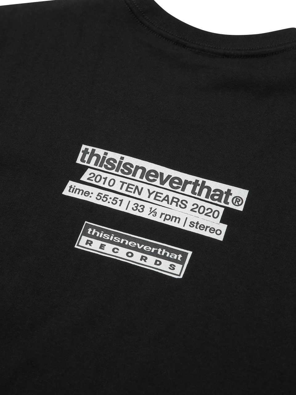 디스이즈네버댓(THISISNEVERTHAT) thisisneverthat : 2010 TEN YEARS 2020 / Records Tee White