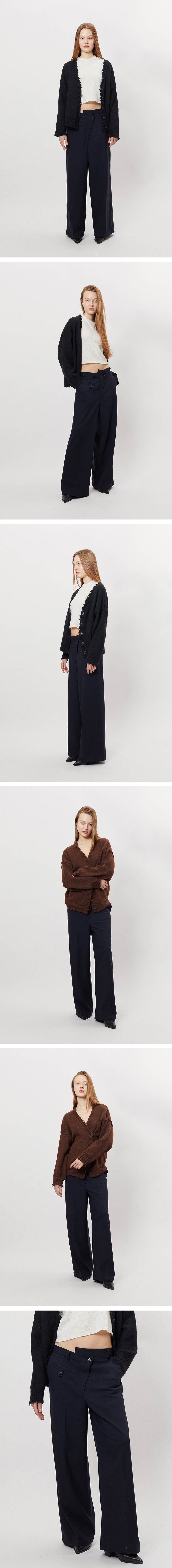 마뗑킴(MATIN KIM) DIAGONAL BUTTON TROUSERS