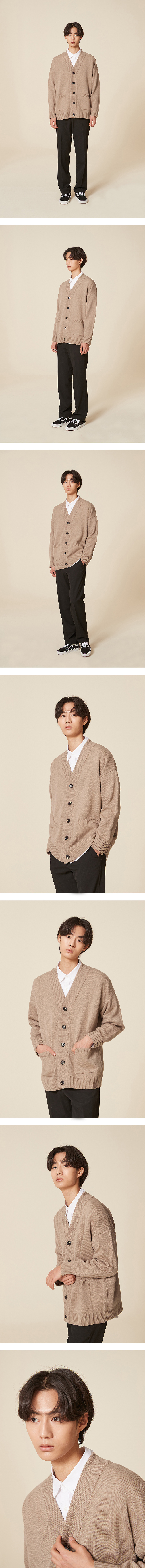 블론드나인(BLOND9) BASIC KNIT CARDIGAN_BEIGE