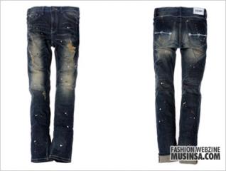 Splatter premium denim pants