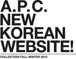 A.P.C NEW KOREAN WEBSITE 오픈!