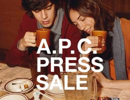 가로수길 A.P.C PRESS SALE