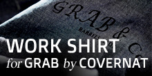 GRAB Work Shirt Made by COVERNAT
