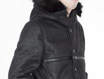 그라운드워크(Groundwork)의 편안한 무톤 스웨이드 재킷