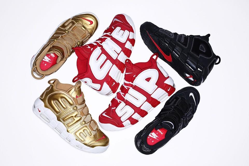 4a41228c625 신발   나이키(Nike) X 슈프림(Supreme) 에어 모어 업템포, 한국 발매 ...
