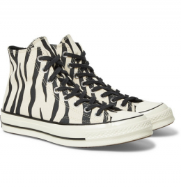 컨버스 / 1970s Chuck Taylor All Star Zebra-Print Canvas High-Top Sneakers / 미스터포터
