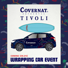 COVERNAT X TIVOLI WRAPPING CAR EVENT COMING 6/24(MON.)