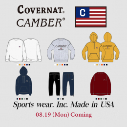 COVERNAT X CAMBER & COTTON USA COMING 08.19(Mon.)
