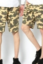 베이프_Mr. BATHING APE 1ST CAMO SHORTS