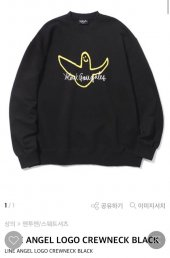 마크 곤잘레스_ANGEL LOGO CREWNECK BLACK