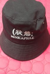 _미니캡슐 state over visor bucker hat(black)