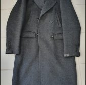 _STRAIGHT FIT DOUBLE COAT(GREY)